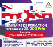 Affiche abstract séminaire anglais