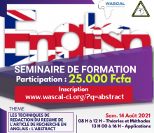 affiche anglais abstract